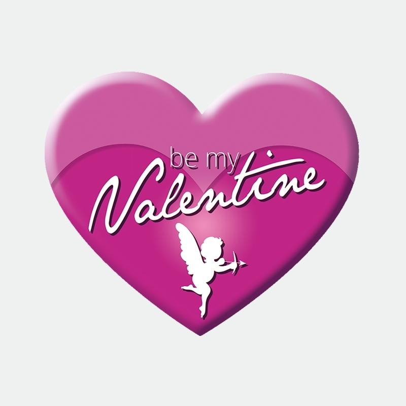 Be My Valentine Herz Aufkleber Werbung Schaufenster Beschriftung