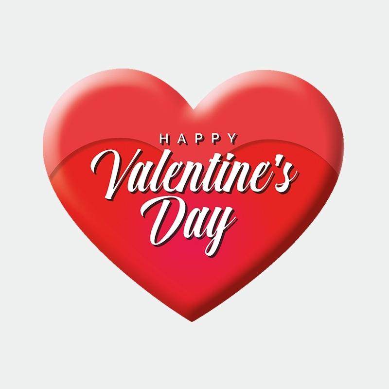 Happy Valentine Herz Aufkleber Werbung Schaufenster Beschriftung