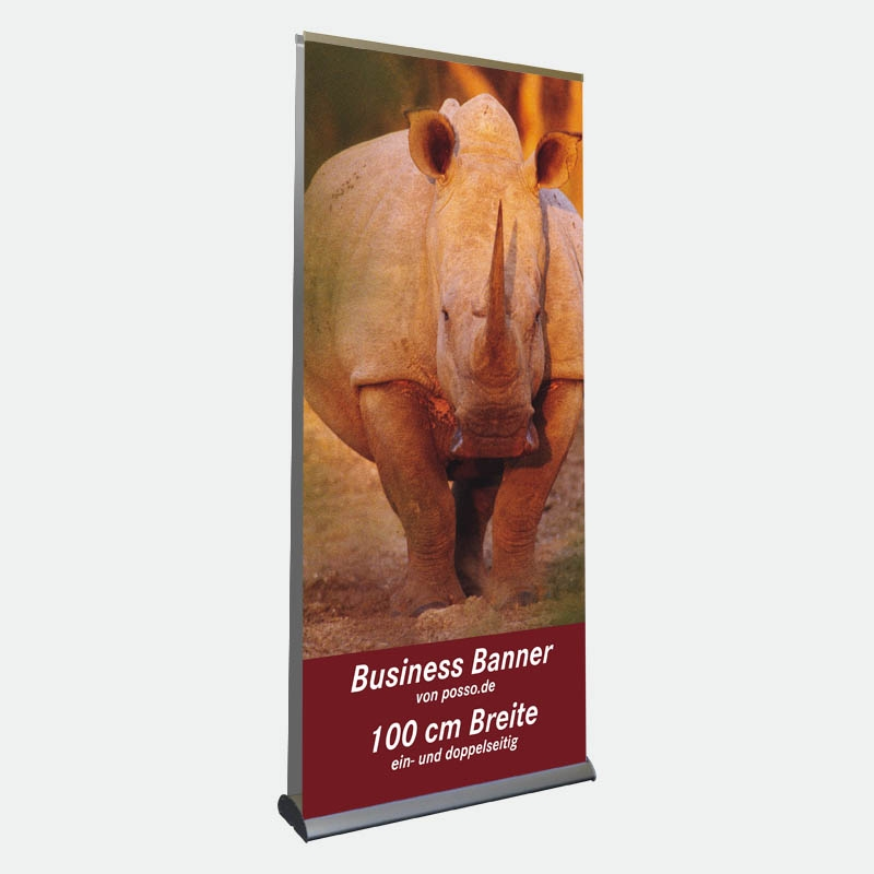 Business Bannerdisplay 100 cm, Doppelseitig