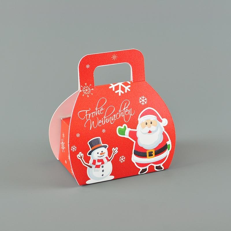 Faltschachtel mit Henkel - Weihnachtsmotiv - Frontansicht