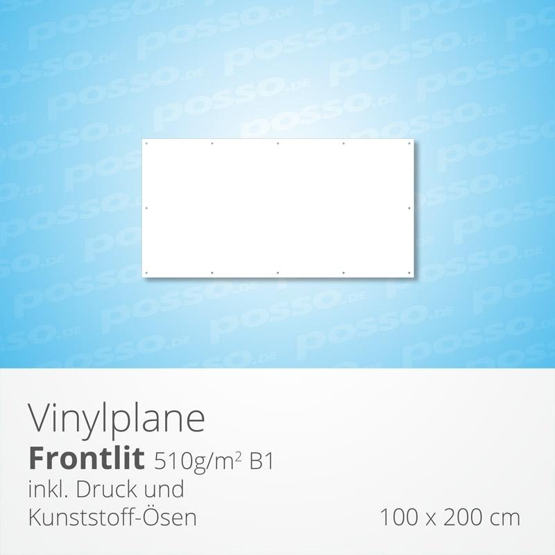 Werbeplane, Frontlit, Vinylplane 100 x 200 cm