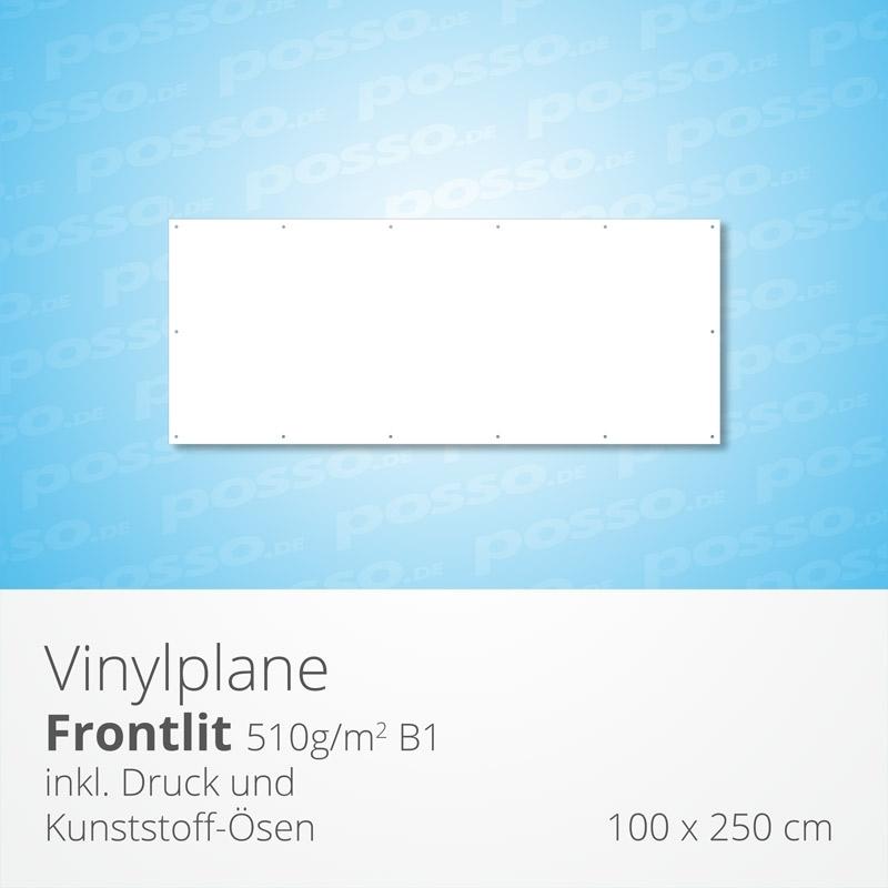 Werbeplane, Frontlit, Vinylplane 100 x 250 cm