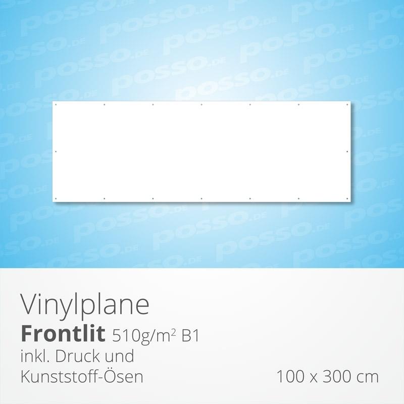 Werbeplane, Frontlit, Vinylplane 100 x 300 cm