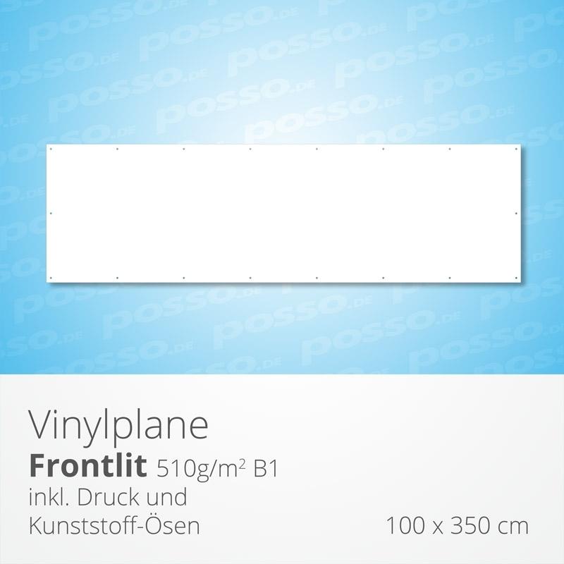 Werbeplane, Frontlit, Vinylplane 100 x 350 cm