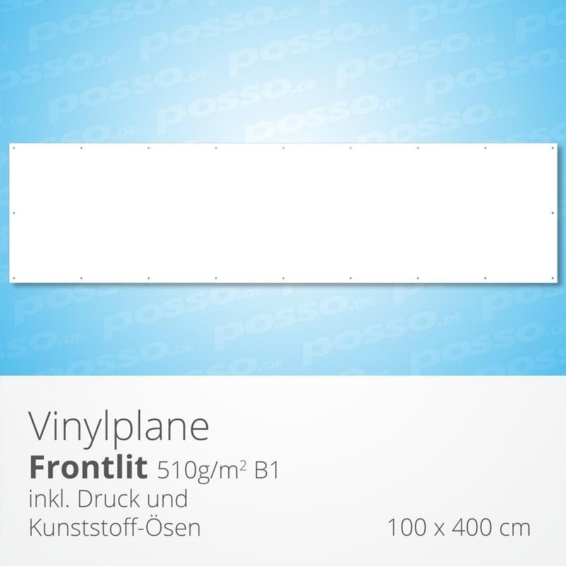 Werbeplane, Frontlit, Vinylplane 100 x 400 cm