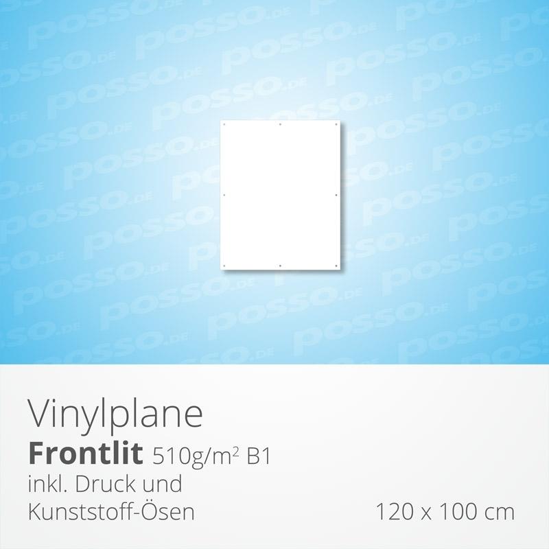 Werbeplane, Frontlit, Vinylplane 120 x 100 cm