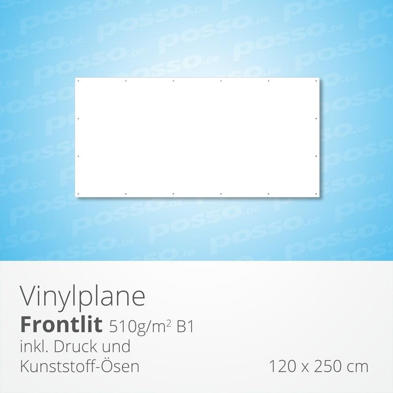 Werbeplane, Frontlit, Vinylplane 120 x 250 cm