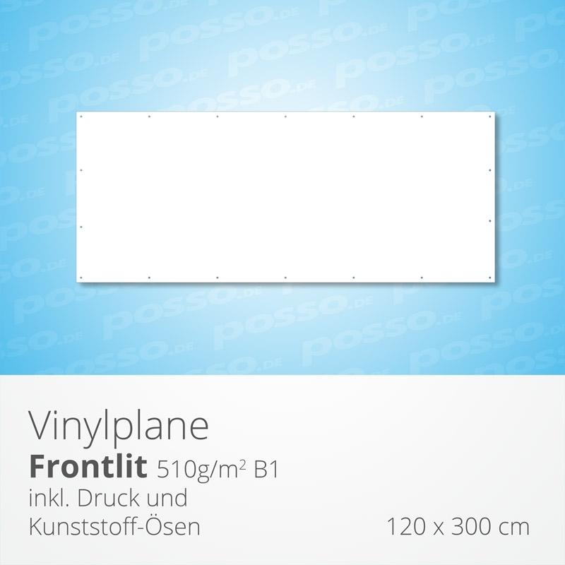 Werbeplane, Frontlit, Vinylplane 120 x 300 cm