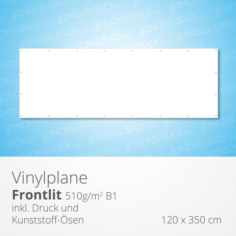 Werbeplane, Frontlit, Vinylplane 120 x 350 cm