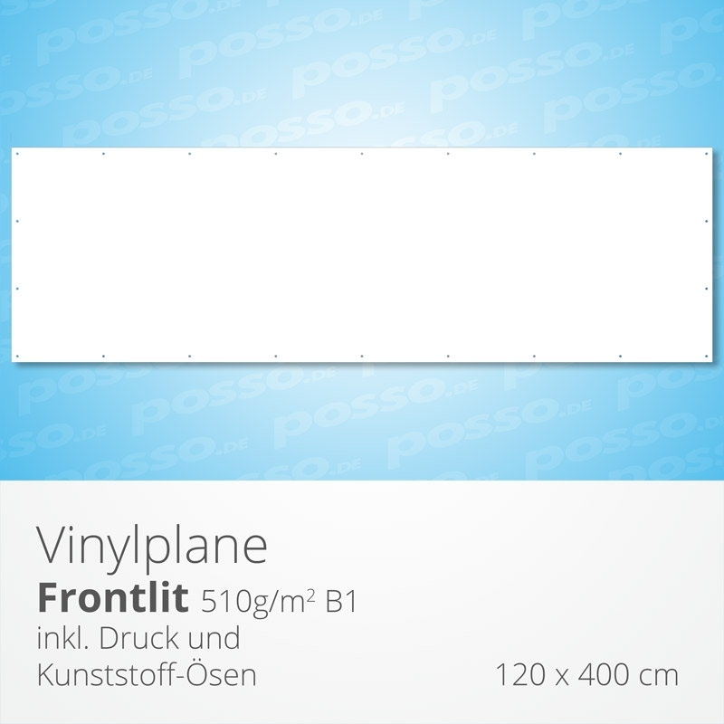 Werbeplane, Frontlit, Vinylplane 120 x 400 cm