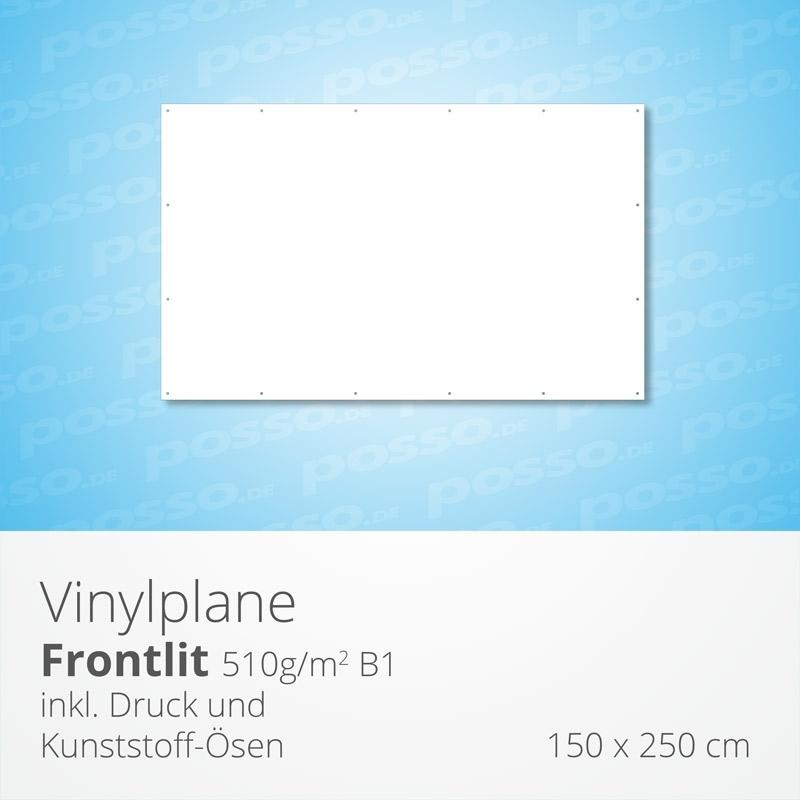 Werbeplane, Frontlit, Vinylplane 150 x 250 cm