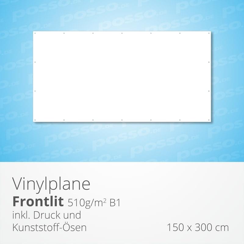 Werbeplane, Frontlit, Vinylplane 150 x 300 cm