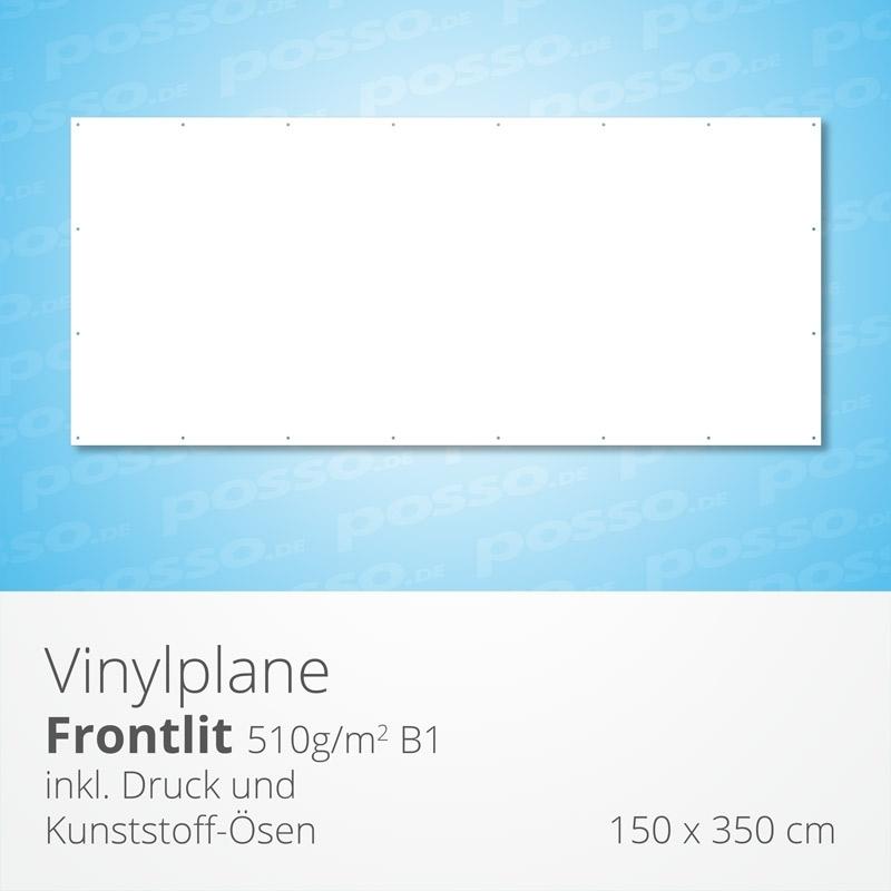 Werbeplane, Frontlit, Vinylplane 150 x 350 cm