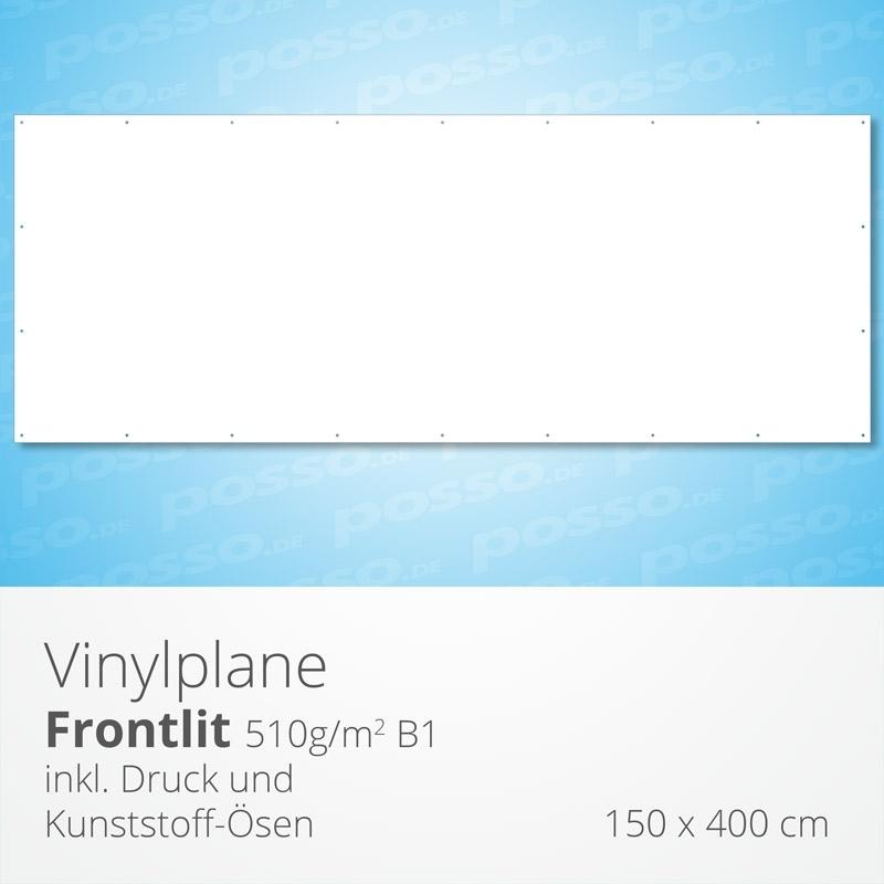 Werbeplane, Frontlit, Vinylplane 150 x 400 cm