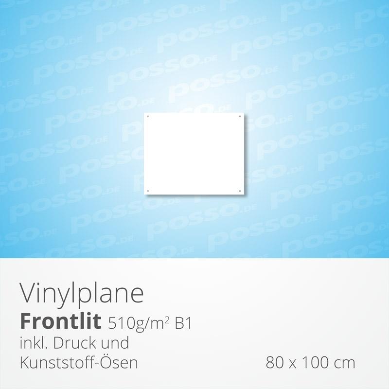 Werbeplane, Frontlit, Vinylplane 80 x 100 cm, Werbeplane