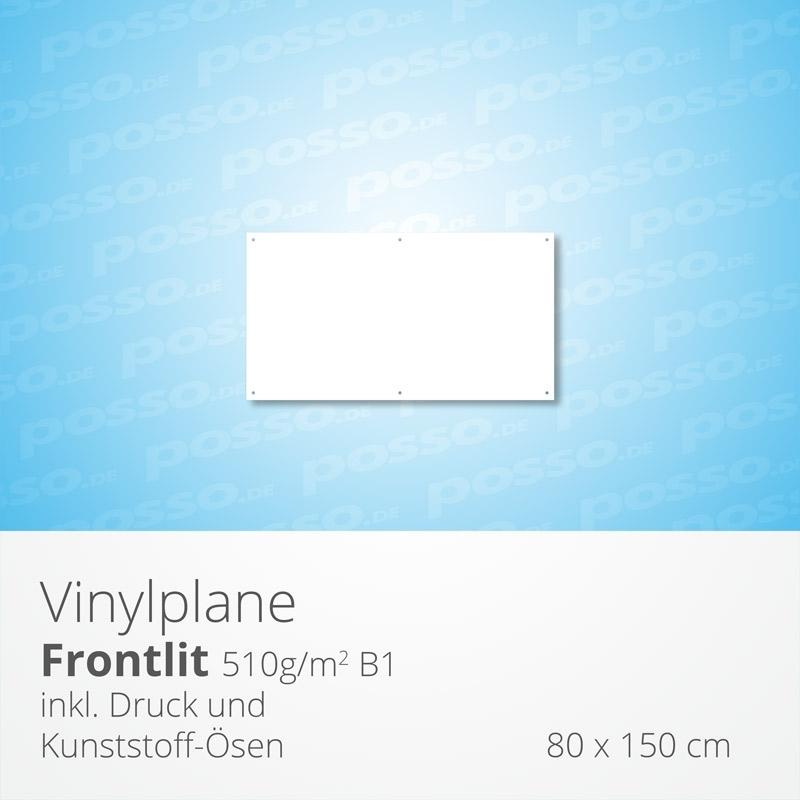 Werbeplane, Frontlit, Vinylplane 80 x 150 cm