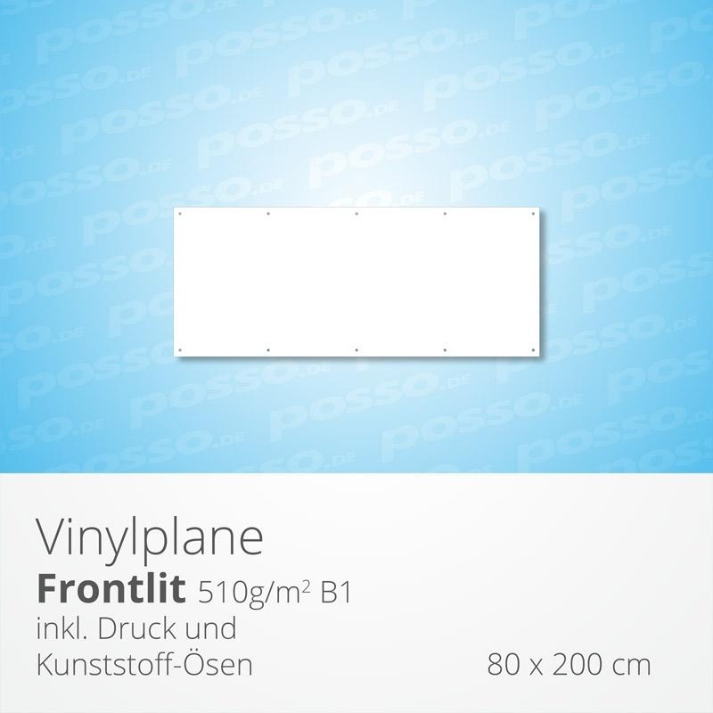Werbeplane, Frontlit, Vinylplane 80 x 200 cm