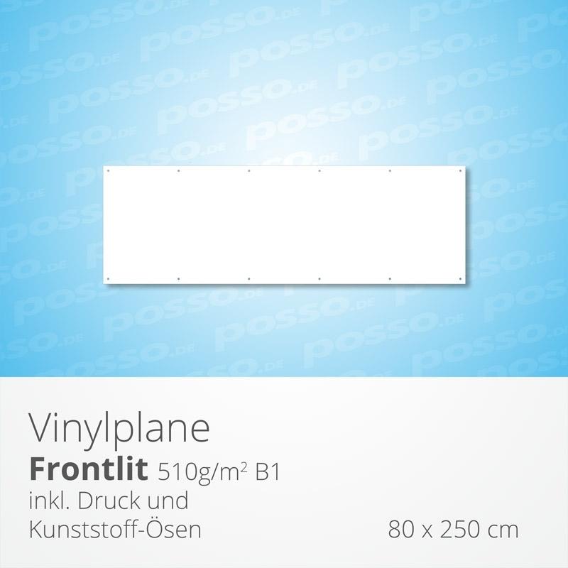 Werbeplane, Frontlit, Vinylplane 80 x 250 cm