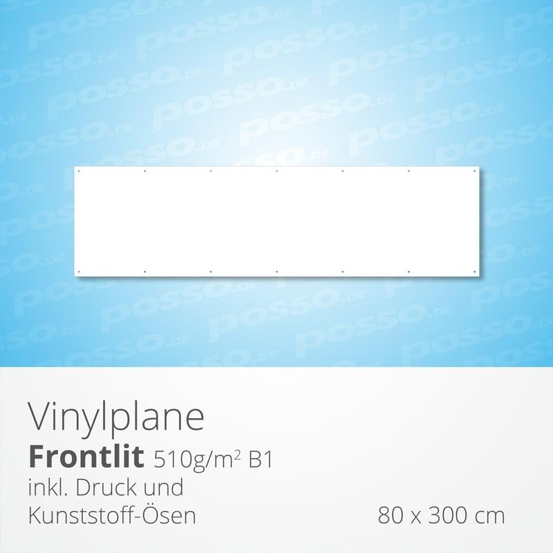 Werbeplane, Frontlit, Vinylplane 80 x 300 cm