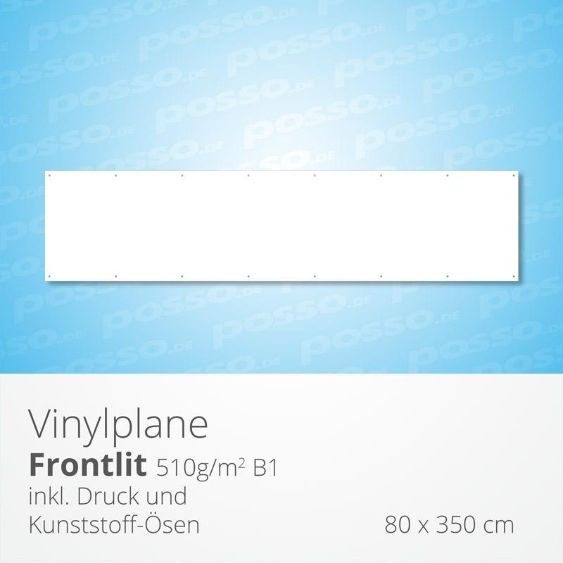 Werbeplane, Frontlit, Vinylplane 80 x 350 cm