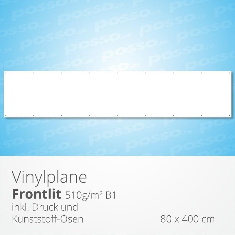 Werbeplane, Frontlit, Vinylplane 80 x 400 cm