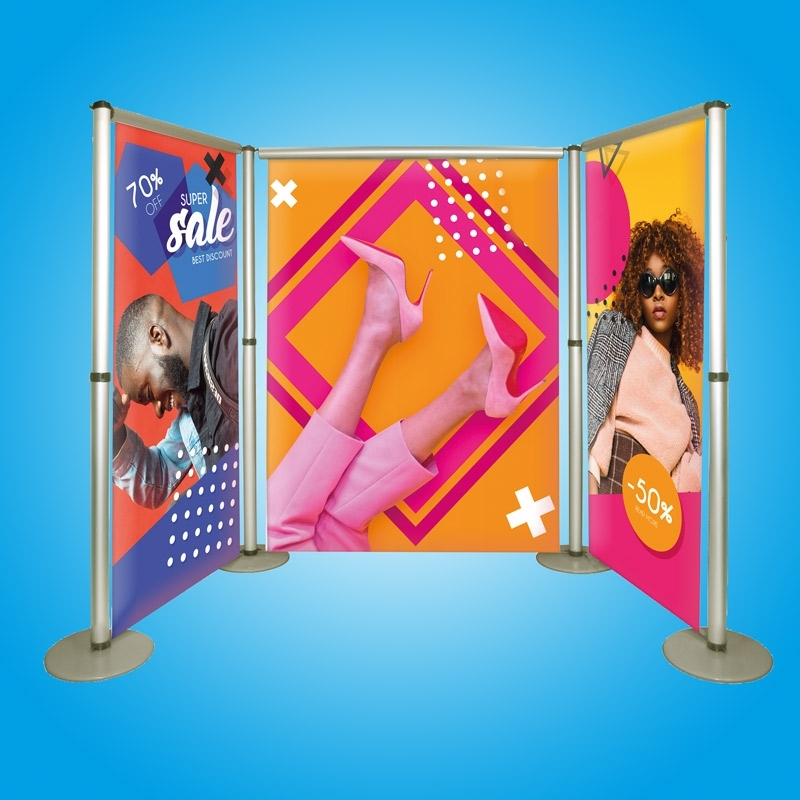 Limbo plus Banner-Messestand Kit 3