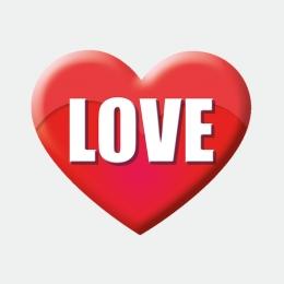 LOVE Herz Aufkleber Werbung Schaufenster Beschriftung