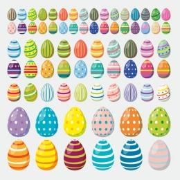 Ostern Bunte Eier Aufkleber Werbung Schaufenster Beschriftung