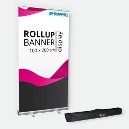 Rollup Bannerdisplay 100 cm mit Transporttasche