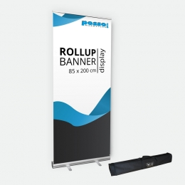 Rollup Bannerdisplay 85 cm mit Transporttasche - Der Bestseller