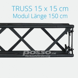 Crown Truss Modul 15x15 gerade 150 cm
