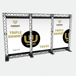 Crown Truss TRIPLE BANNER