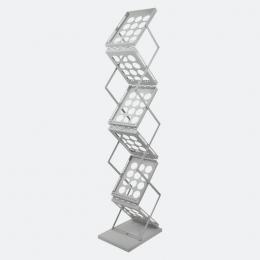 Zedup DIN A4 Faltprospektständer mit Metallablagen