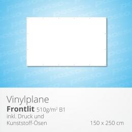 Werbeplane, Frontlit, Vinylplane 150 x 200 cm
