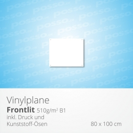 posso Frontlit Vinylplane 80 x 100 cm, Werbeplane