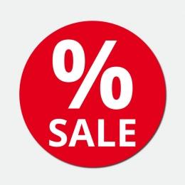 Aufkleber Werbung Schaufenster Sale Beschriftung