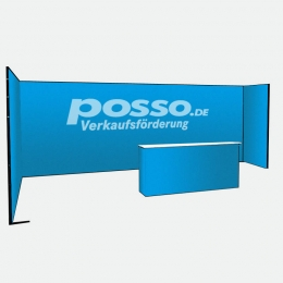 Messestand, Reihenstand, U-Form