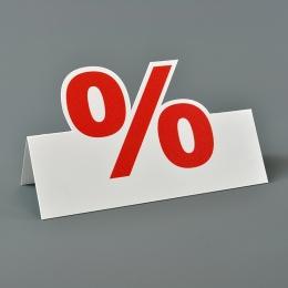 Tischaufsteller aus Pappe für Schaufenstergestaltung, Warenauszeichnung, Rabattaktion