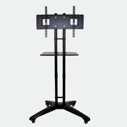 Rollbarer Monitorständer mit Ablagebord