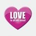 Love is all we need pink Herz Aufkleber Werbung Schaufenster Beschriftung