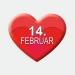 14. Februar Herz Aufkleber Werbung Schaufenster Beschriftung