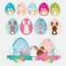 Frohe Ostern Aufkleber Werbung Schaufenster Beschriftung