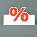 Tischaufsteller aus Pappe für Schaufenstergestaltung, Warenauszeichnung, Rabattaktion, Tischschild