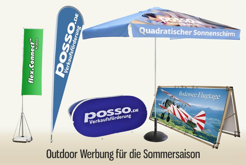 Outdoor Werbung für die Sommersaison Image