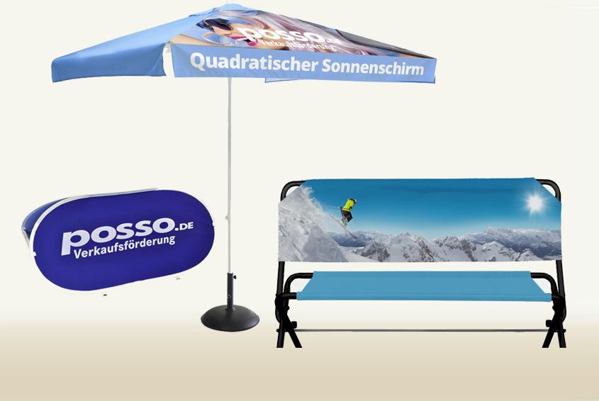 Werbemittel für Outdoor Promotions Image