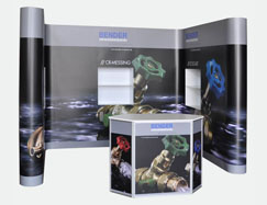 Faltdisplay Displaystand Messedisplay