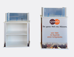 Werbetheke, Messetheke, Promotiontheke