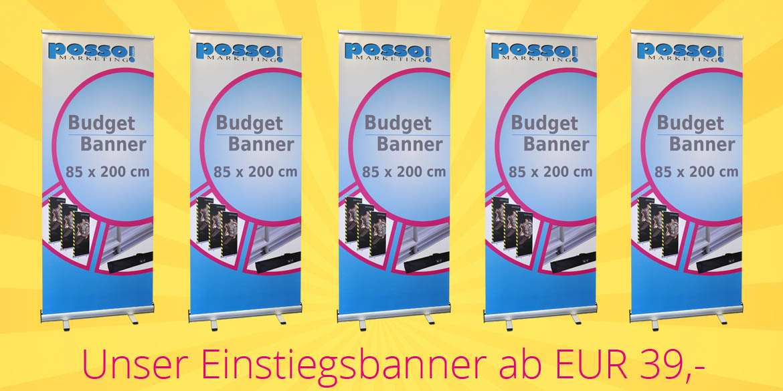 Budget Banner ab EUR 39,-