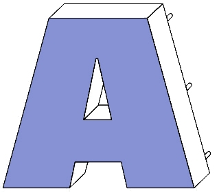 Leuchtreklame Buchstaben Profil