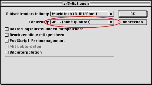 Dateivorbereitung Photoshop Speichern